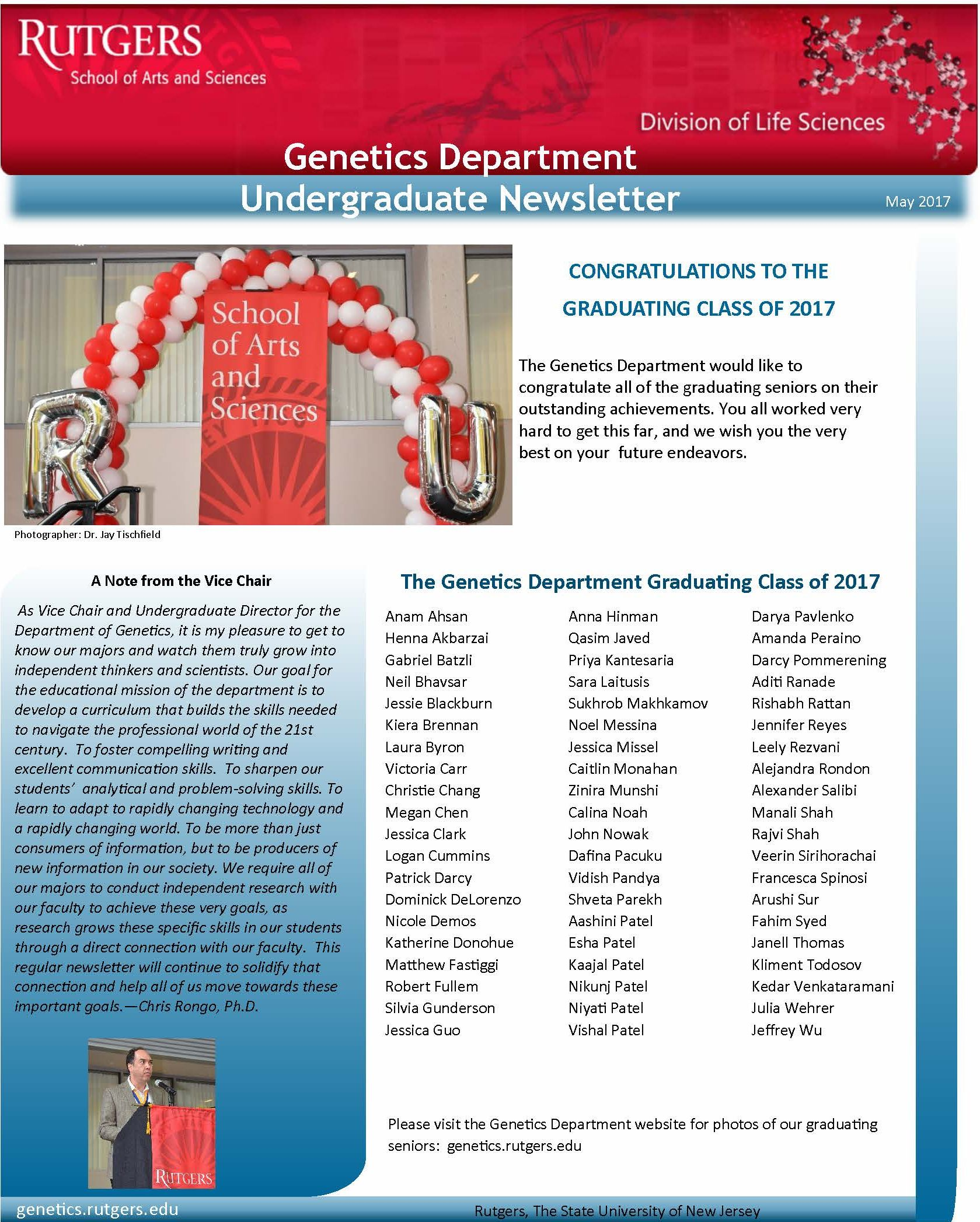 2017 05 09 Genetics Undergrad Newsletter May2017 Page 1